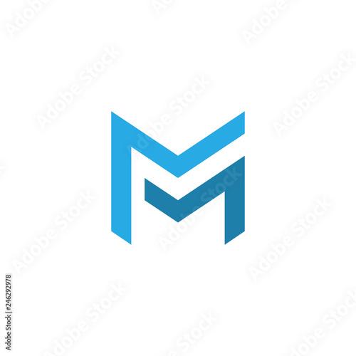 Fotografia  letter mm logo template