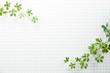Leinwandbild Motiv モザイクタイル-白-植物-真俯瞰
