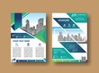 Abstract background annual report template, geometric design business brochure cover