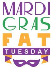 Mardi Gras Fat Tuesday Letteri...