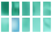 Abstract Green And Blue Blurre...