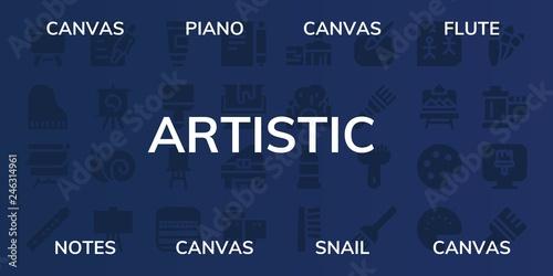 Fotografía  artistic icon set