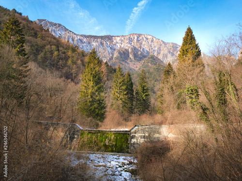 Keuken foto achterwand Grijze traf. La Valle San Liberale - Monte Grappa