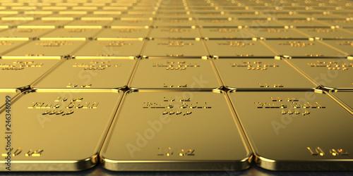 Golden Bars 10 Oz Fine Gold Canvas Print