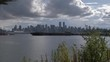 View of Vancouver Skyline from North Vancouver, British Columbia, Canada, North America