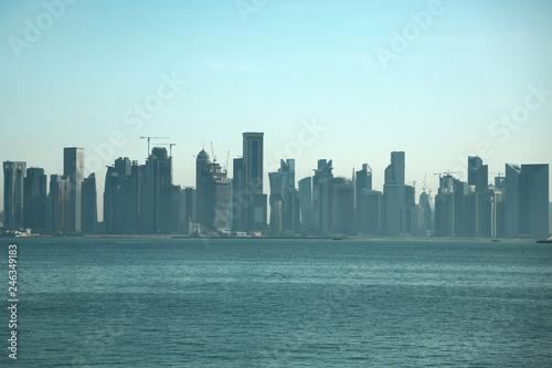 Staande foto Los Angeles View on skyscrapers in Doha downtown, Qatar