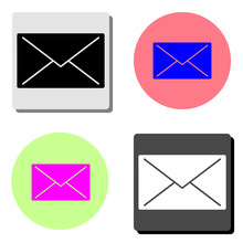 Mail. Flat Vector Icon