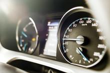 Hybrid Car Dashboard Speedomet...