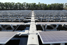 Walkway Of Floating Solar PV S...