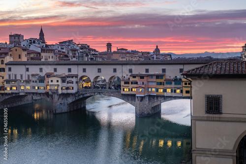 Foto auf Gartenposter Lavendel Firenze, ponte vecchio