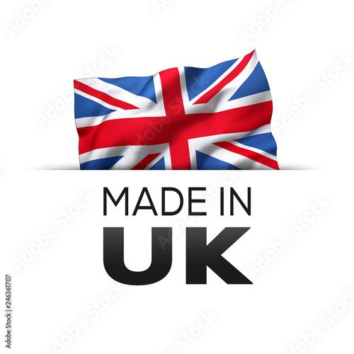 Fotografie, Obraz  Made in UK England - Label