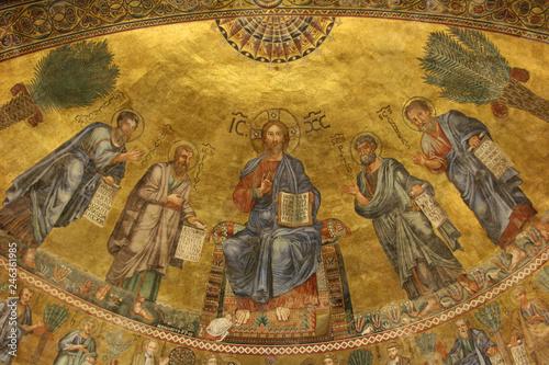 Fotografía  Basilica di San Paolo fuori le mura, mosaico, Roma