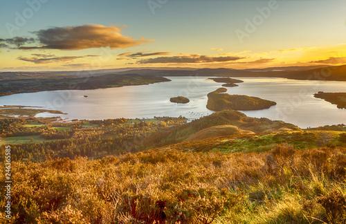 Fotografia Sunset over Loch Lomond