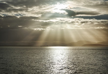 God Rays Over The Ocean From Larrabee State Park