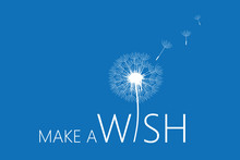 Make A Wish Typography With Da...