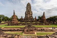 Temple Ayutthaya En Thailande,...