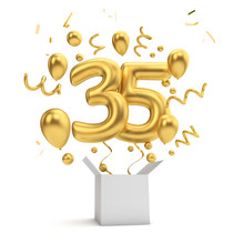 Happy 35th Birthday Gold Surpr...