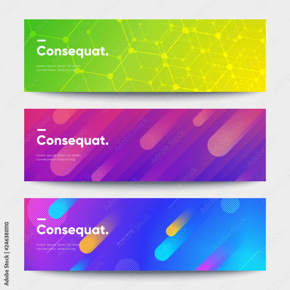 Fototapety, obrazy: Modern deisgn banners set. Creative shapes composition. Eps10 vector.