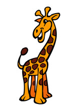 Giraffe Pet Toy Mascot Yellow ...