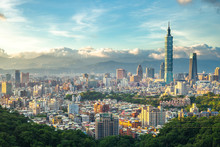 Panoramic View Of Taipei City, Taiwan