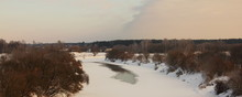Winter Landscape - Icy Dnieper...