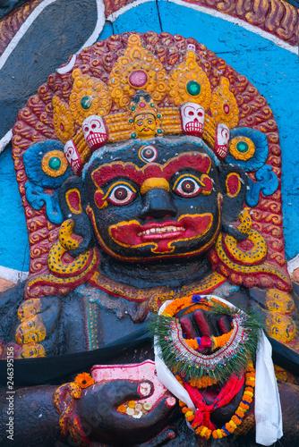 Türaufkleber Phantasie Kali Goddess, Durbar Square, Kathmandu City, Kathmandu Valley, Nepal, Asia