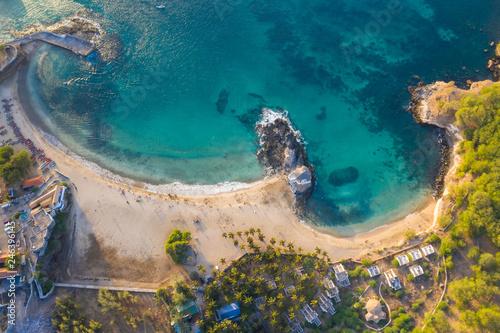Aerial view of Tarrafal beach in Santiago island in Cape Verde - Cabo Verde - 246396145