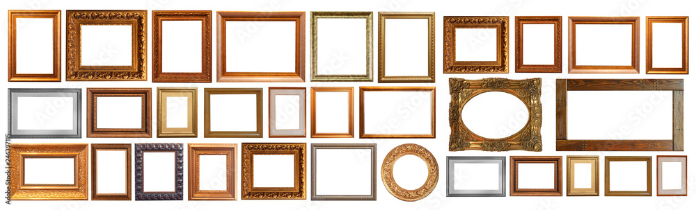 Fototapeta Gold interior elements of the picture frame isolated