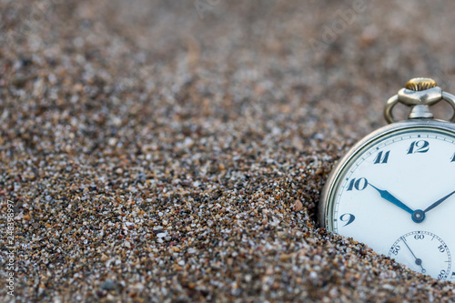 Leinwand Poster Time,Clock and Sand