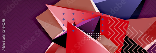 Fotografía Abstract background, colorful minimal abstract triangle composition