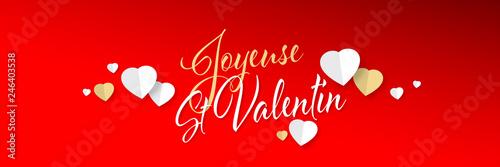Obraz Joyeuse Saint Valentin - fototapety do salonu