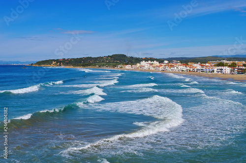 Altafulla Strand an der Costa Dorada in Spanien - Altafulla beach near Tarragona, Costa Dorada, Catalonia