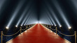 Leinwandbild Motiv red carpet with volume light in 4k