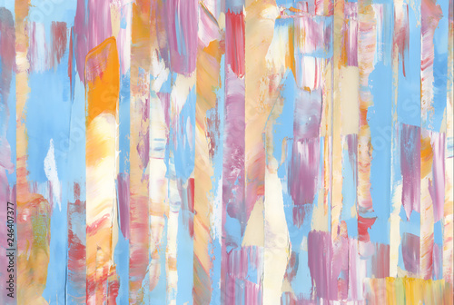 Fototapety, obrazy: Colorful textured background. Oil paint. High detail. Can be used for web design, art print, etc.