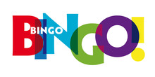 Bingo - Vector Of Stylized Colorful Font