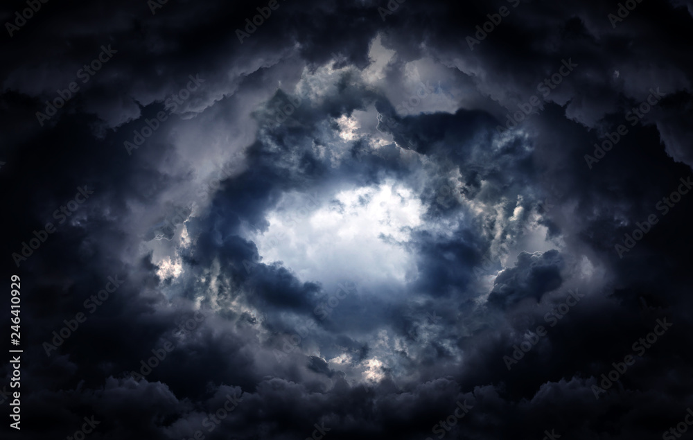 Fototapeta Hole in the Storm Clouds