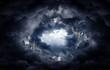 Leinwandbild Motiv Hole in the Storm Clouds