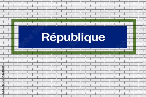 Fotografia  Station de métro République