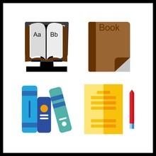4 Read Icon. Vector Illustrati...