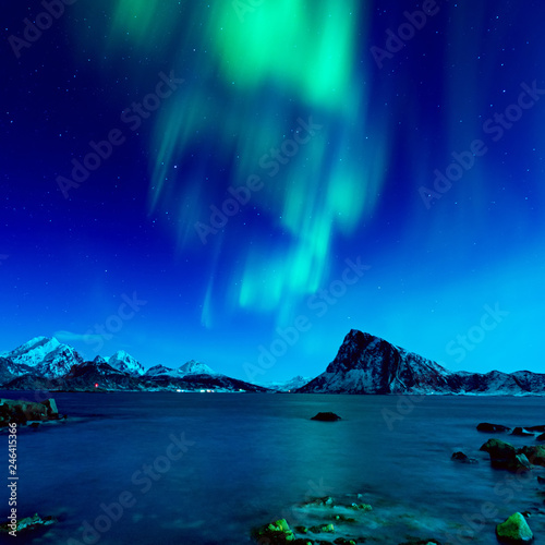 Poster Aurore polaire Northern Lights in Norway