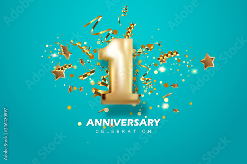First Anniversary celebration Fototapet