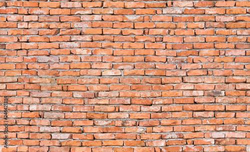 Foto op Aluminium Wand A fragment of an old brick wall.