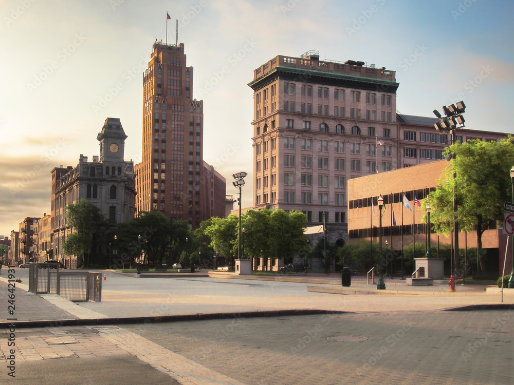 Fototapety, obrazy: downtown Syracuse , early morning