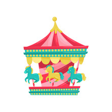 Carnival Carousel With Horses....