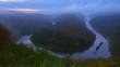 Big Loop of Saar River near Orscholz, Mettlach, Saarland, Germany, Europe