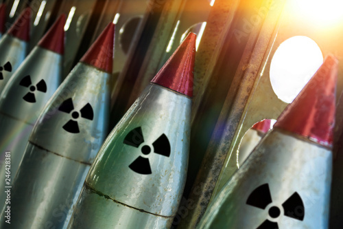 nuclear missiles are directed upwards Wallpaper Mural