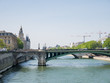 Beautiful cityscape with the famous Seine river