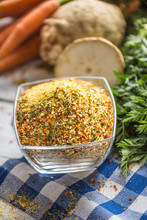 Seasoning Spices Condiment Vegeta From Dehydrated Carrot Parsley Celery Parsnips And Salt With Or Without Glutamate