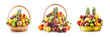 Fruit in basket and bowl set, winter assortment