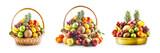 Fototapeta Fototapety do kuchni - Fruit in basket and bowl set, winter assortment